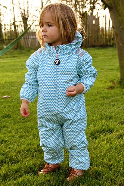 ocieplany kombinezon zimowy dla niemowlaków, Ducksday, wzór ACE