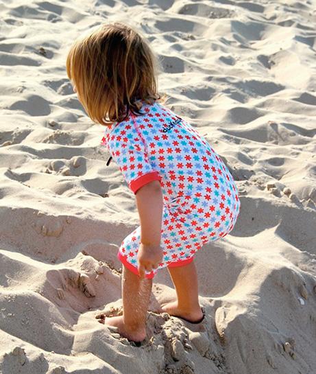 jednocześciowy strój kąpielowy dla najmłodszych dzieci z filtrem UV, Ducksday