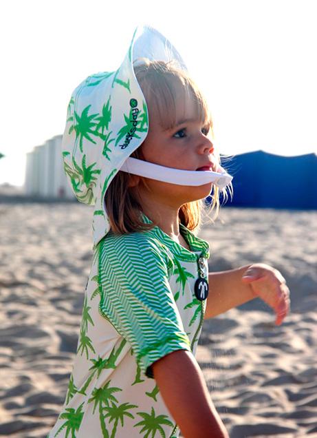 jednocześciowy kostium kąpielowy dla najmłodszych dzieci z filtrem UV, Ducksday