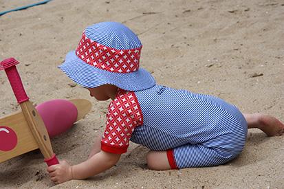 kostium kąpielowy dla niemowląt z filtrem ochronnym, nad morze, na basen, do opalania, na plażę, Ducksday