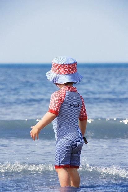 jednocześciowe kostiumy plażowe, kąpielowe nad morze, na basen, do opalania, na plażę dla dzieci od Ducksday