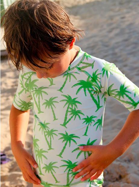 koszulka plażowa dla chłopca, koszulki kąpielowe dla dzieci Equator Ducksday