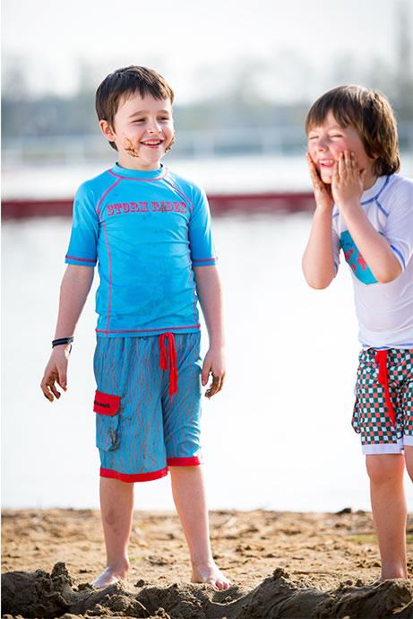 kolorowe, niebanalne, koszulki dla dzieci i szorty chłopięce Ducksday Polska