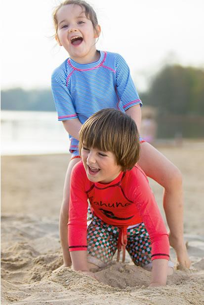 koszulki i t-shirty do kąpieli nad morze, na basen, do opalania, na plażę dla dzieci Ducksday