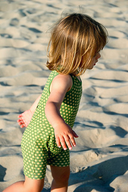 zielona piżamka unisex dla najmłodszych dzieci, chłopca i dziewczynki